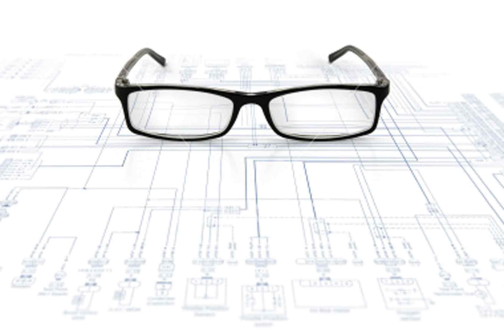 Glasses Frames Diagram : ist2_5483647_glasses_on_diagram