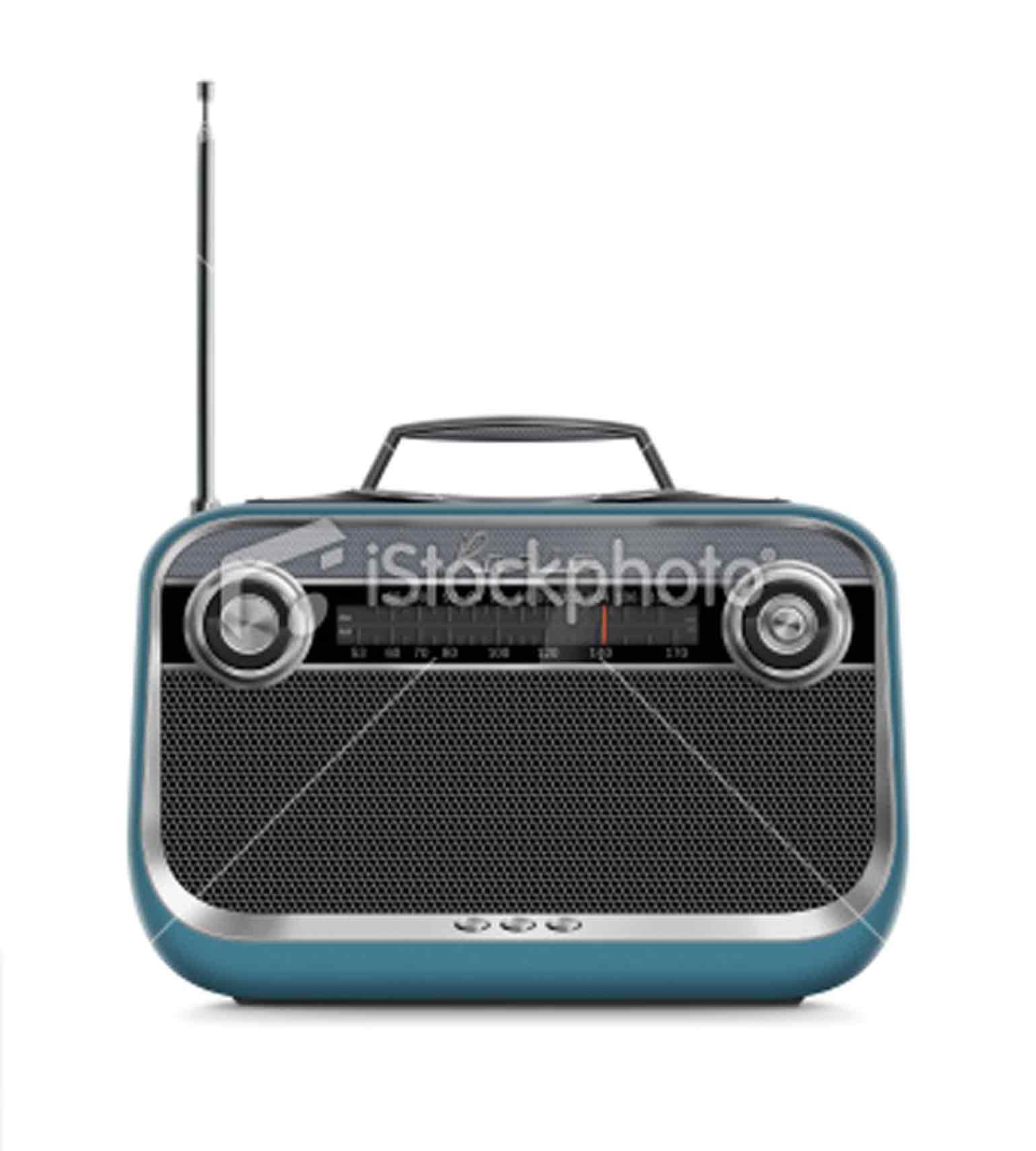 Stock Photo 19138689 Stylish Vintage Portable Radio